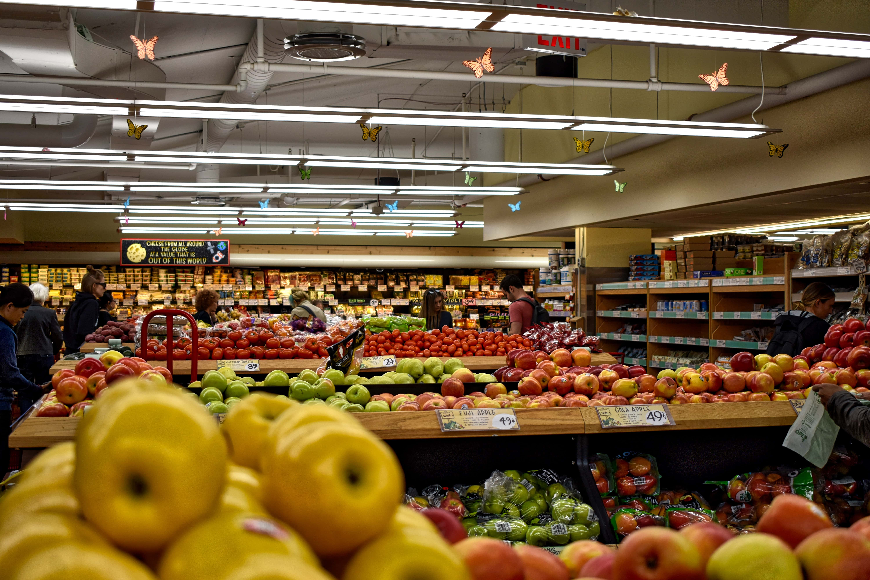 supermarket fruit and veg